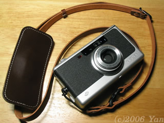 NATURA NSに付けたカメラ日和オリジナル・ストラップ[PowerShot A70]