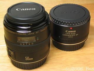 EF50mm F2.5 コンパクトマクロ/ライフサイズコンバーターEF[PowerShotA70]